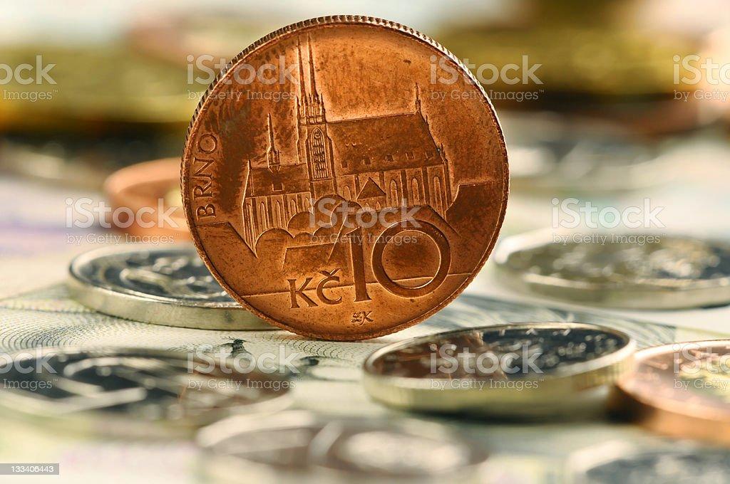 Czech money royalty-free stock photo