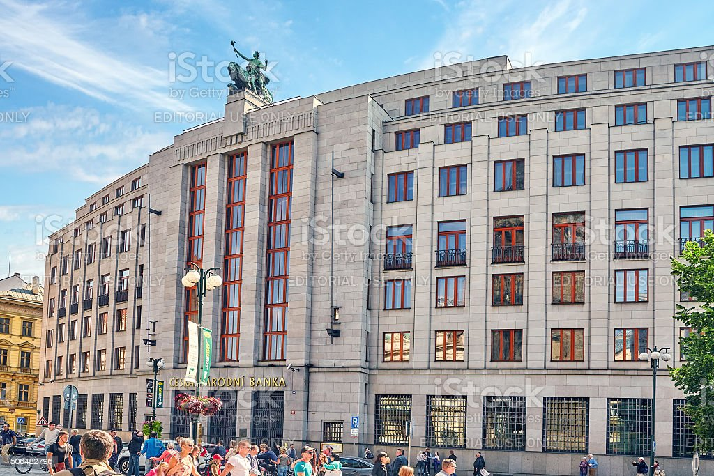Czech National bank. stock photo