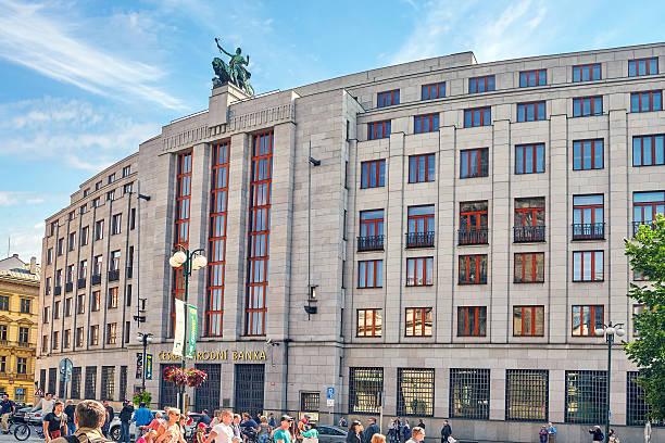 チェコ国立銀行ます。 - 各国の観光地 ストックフォトと画像