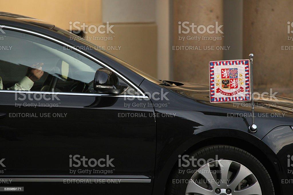 Checa limusina de la suite presidential - foto de stock