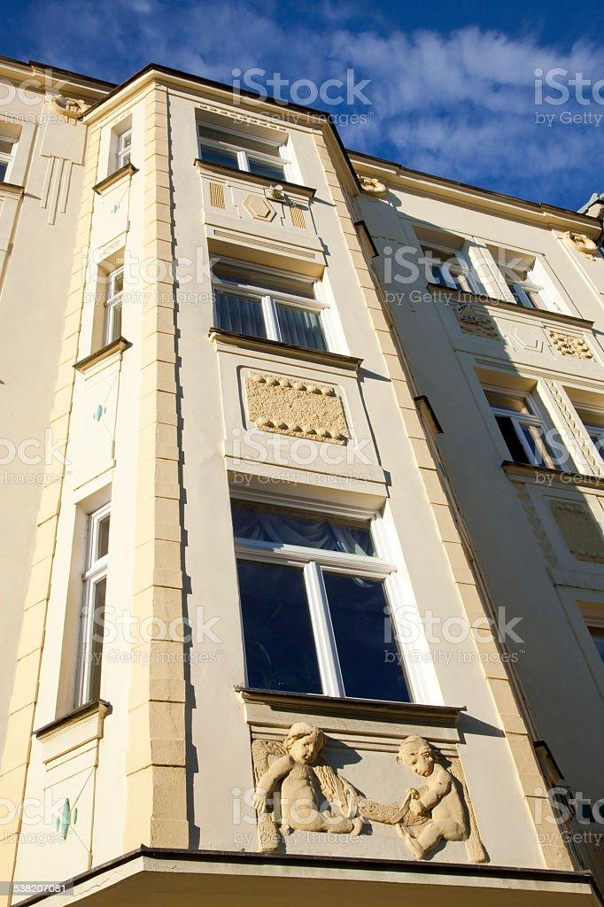 Czech republic buildings stock photo