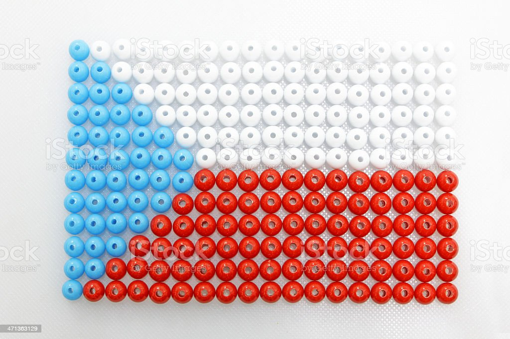 Czech Republic Flag royalty-free stock photo