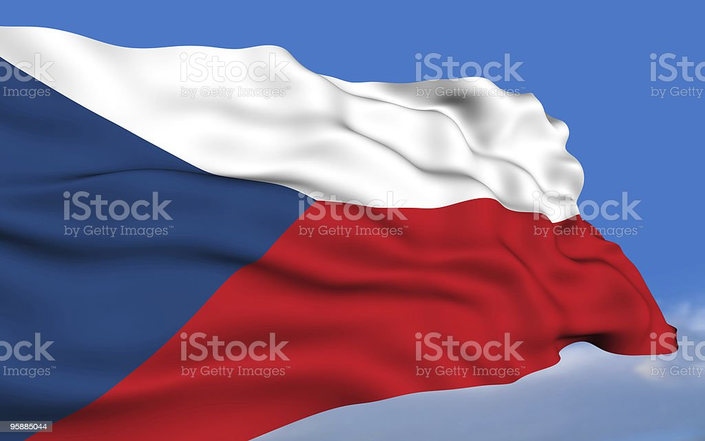Czech Republic flag royalty-free stock photo