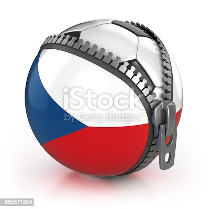 istock Czech Republic football nation 3d isolated illustration 885571304