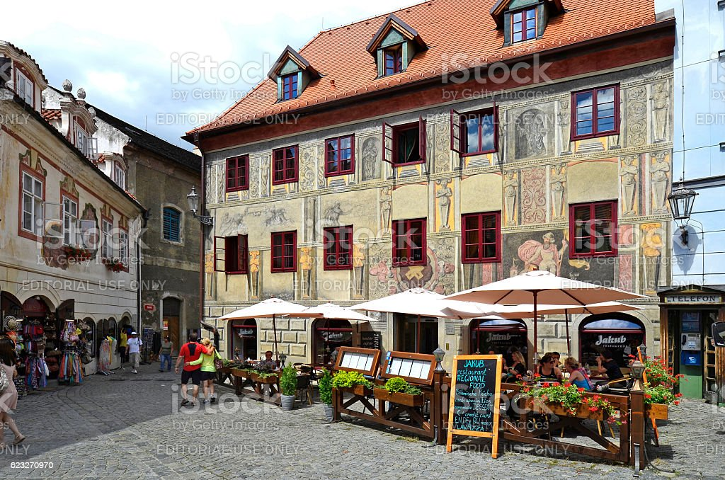 Czech Republic, Krumlov stock photo