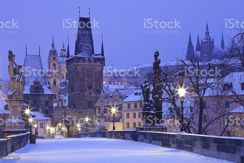 Czech Republic, Pague, Charles Bridge stock photo