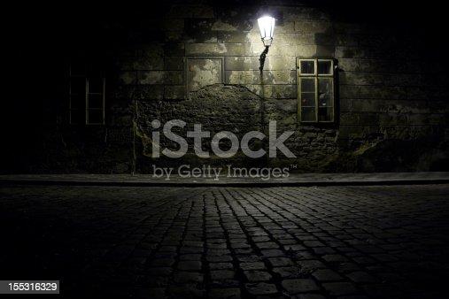 Czech Republic. Praha. Dark alley.