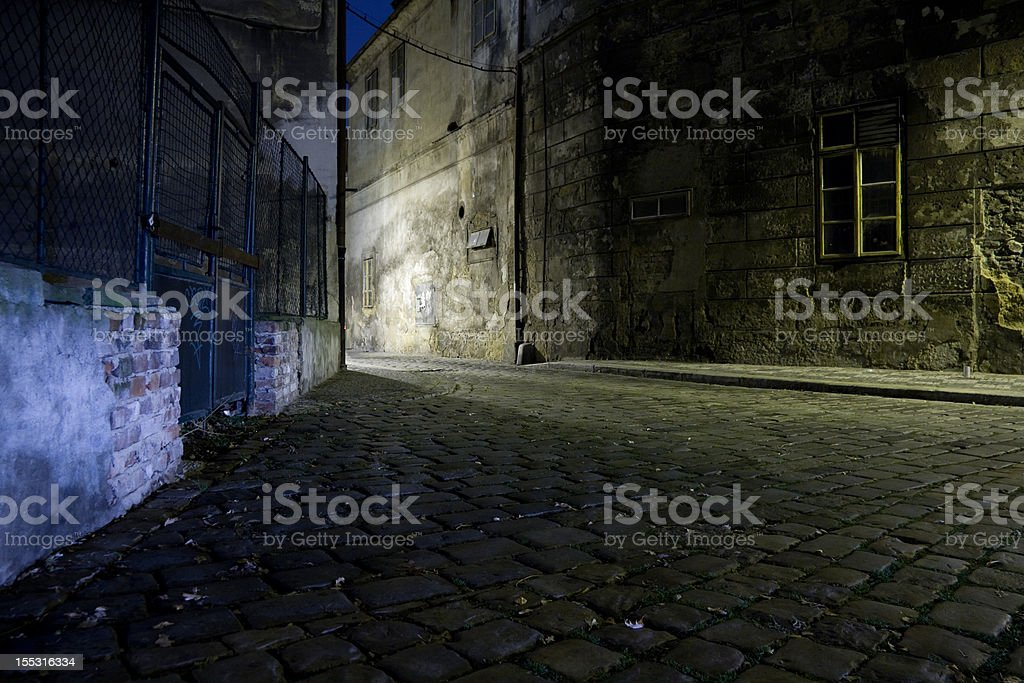 Czech Republic. Praha. Dark alley. royalty-free stock photo