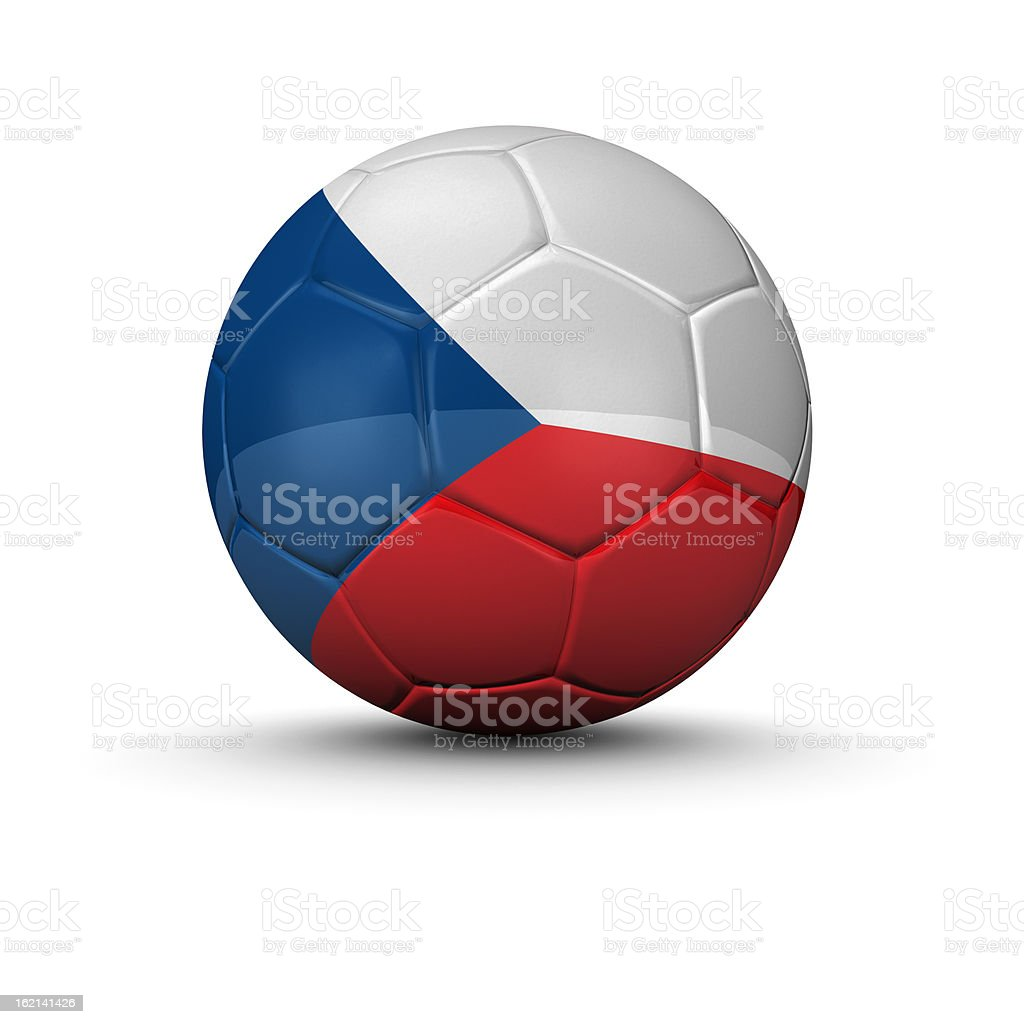 czech republic soccer ball royalty-free stock photo