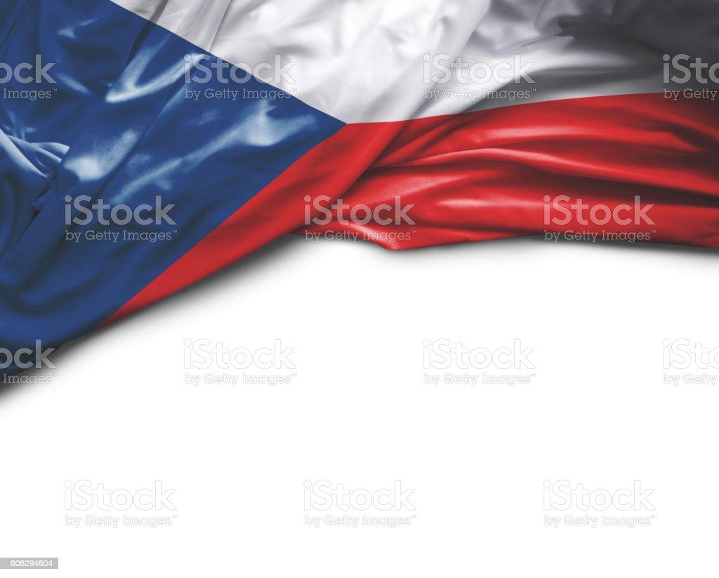 Bandera de la República Checa Saludar con la mano - foto de stock