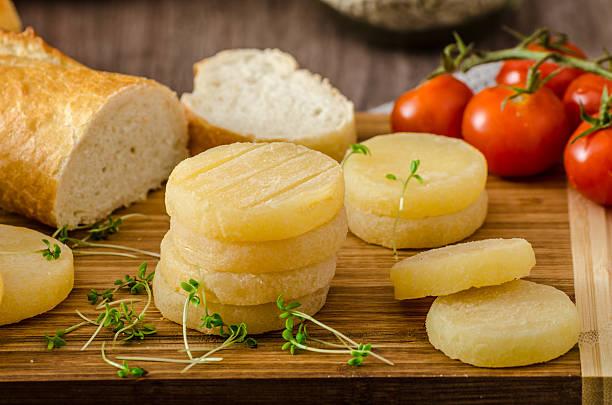 Czech smelly cheese - Olomoucke tvaruzky stock photo