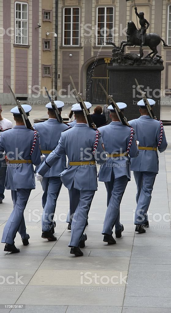 Czech Soldiers March stock photo
