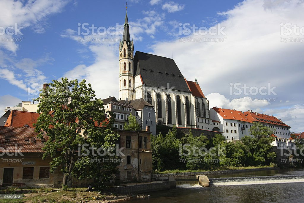 Czech town royalty-free stock photo