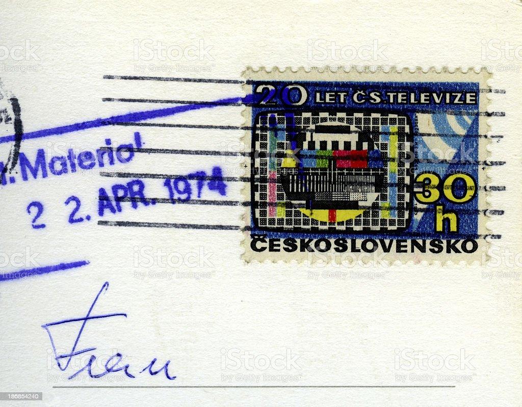 Czechoslovakia postage stamp royalty-free stock photo