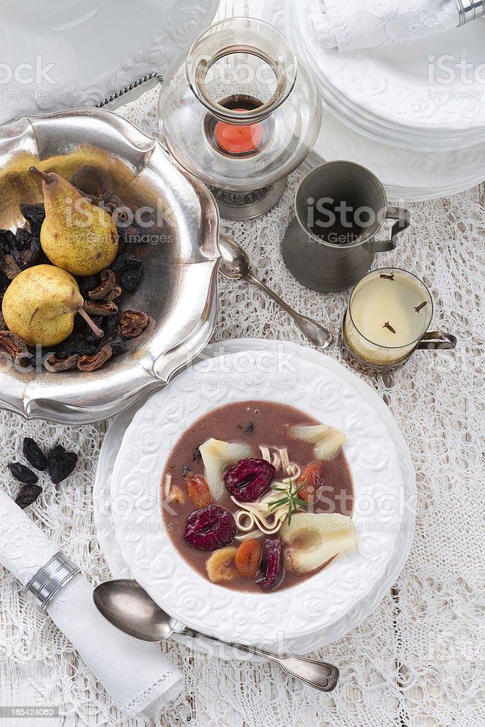 Czernina  is a Polish soup royalty-free stock photo