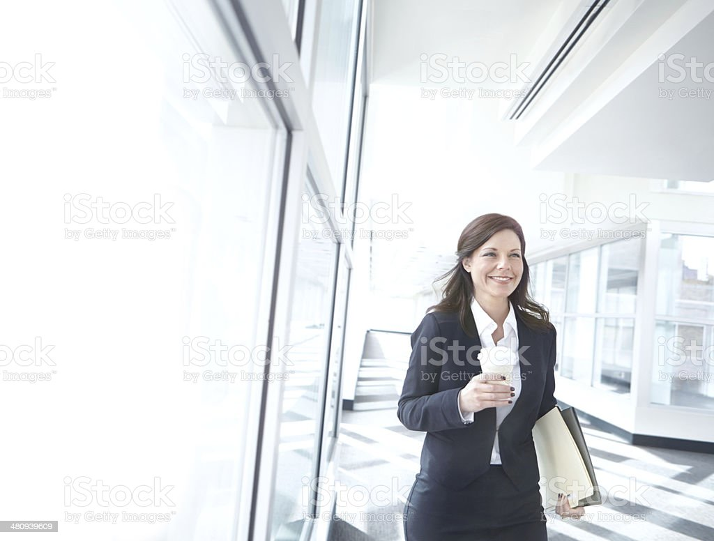 I'd better rush, I'm running late! stock photo