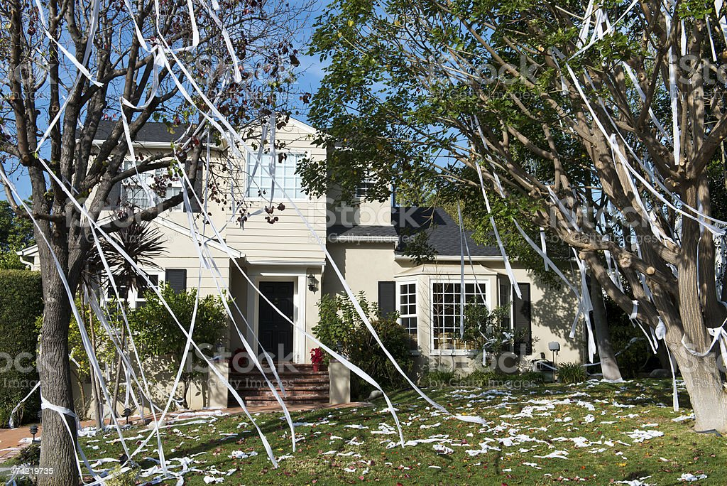 TP'd Home stock photo