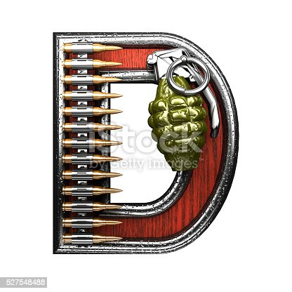 istock d military letter. 3D illustration 527548488