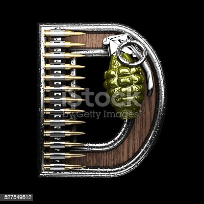 istock d military letter. 3D illustration 527549512