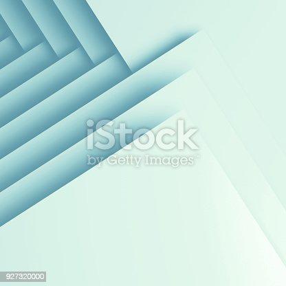 927319980 istock photo 3 d square geometric pattern of corners 927320000