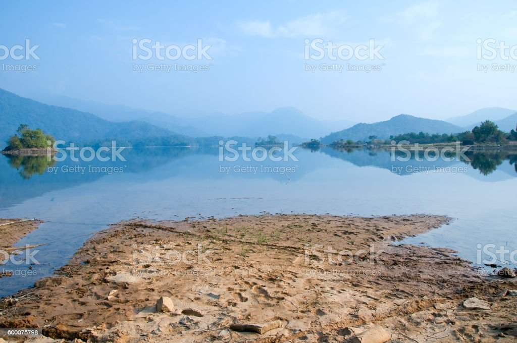 Da Mi lake, Bao Loc, Lam Dong province, Vietnam stock photo