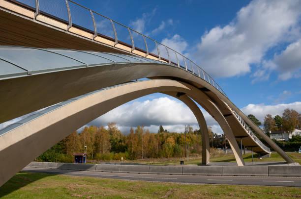Da Vinci bridge in Norway stock photo