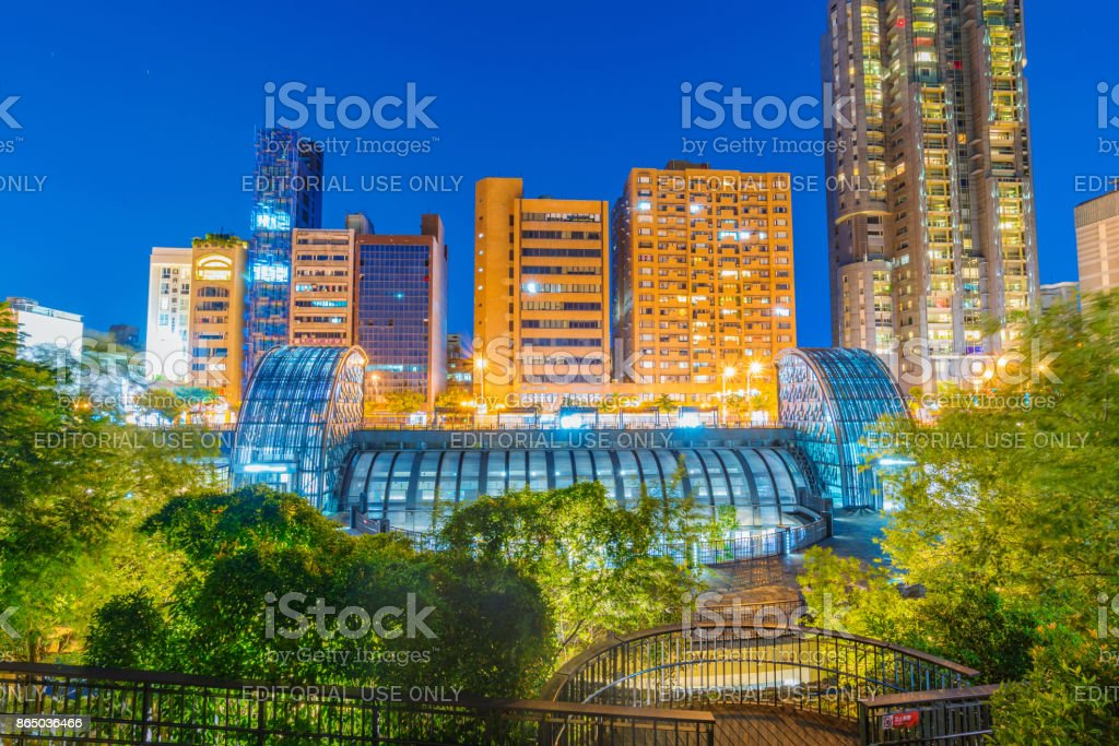Daan forest park station and architecture stock photo