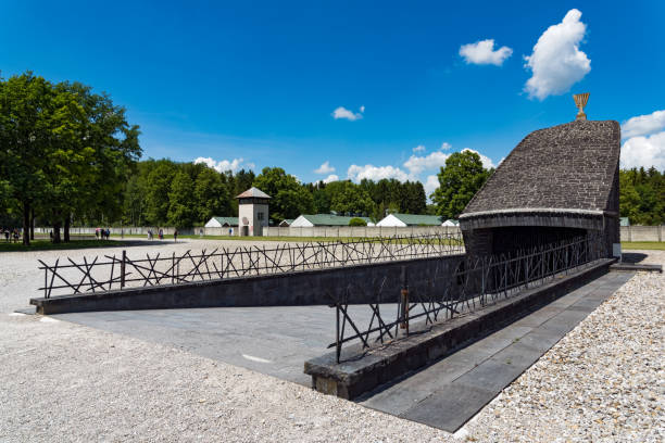 Dachau Camp in Germany stock photo