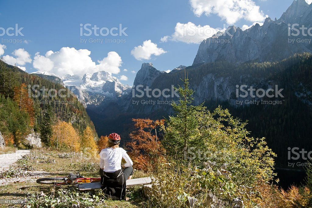 Dachstein view in autumn royalty-free stock photo