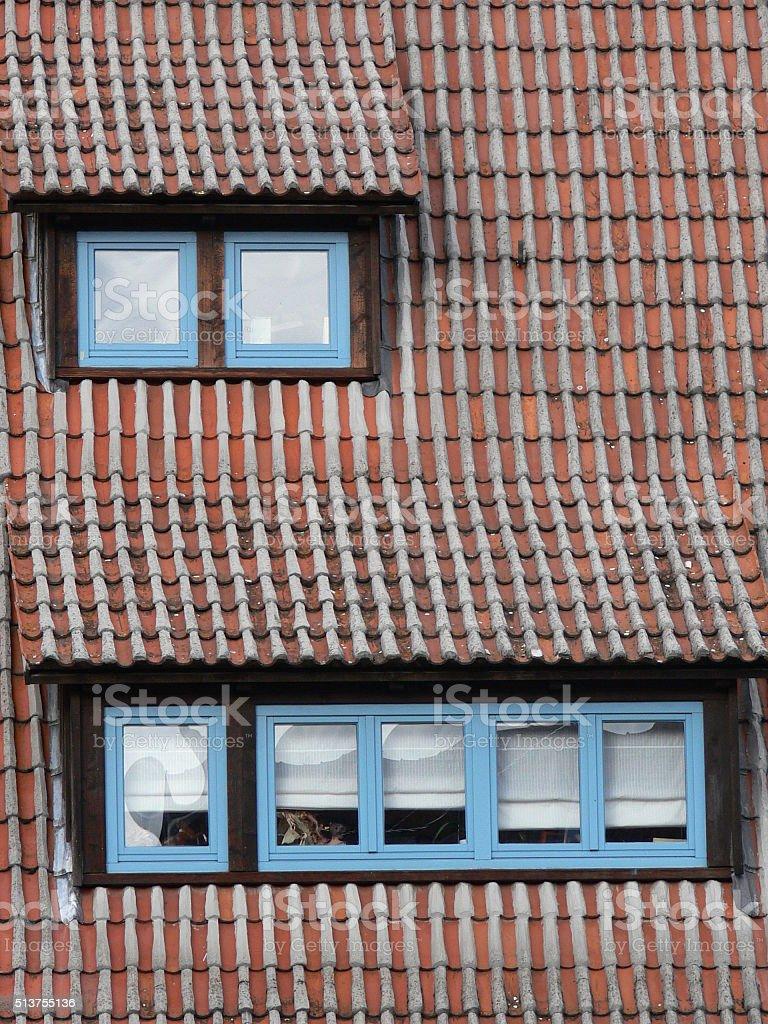 Dachziegel 7 stock photo