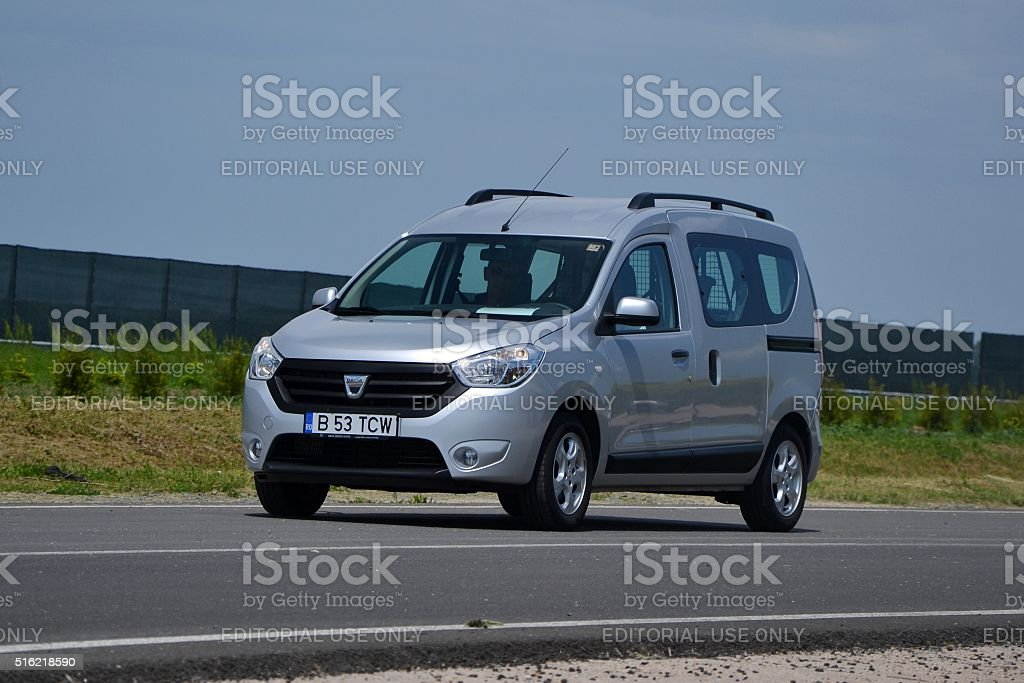 Dacia Dokker on the test track stock photo