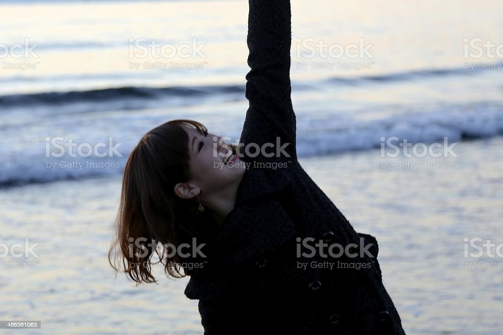 Dacing wiht lovely smile stock photo