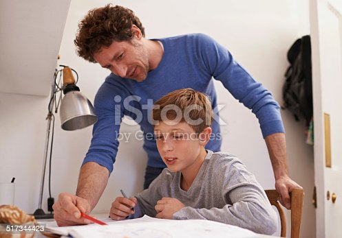 istock Dad always knows the answer 517344423