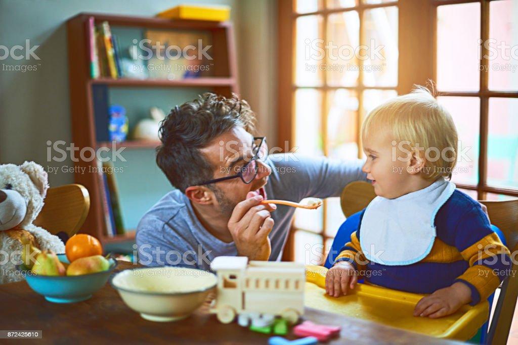 Papa macht immer Spaß Essen – Foto