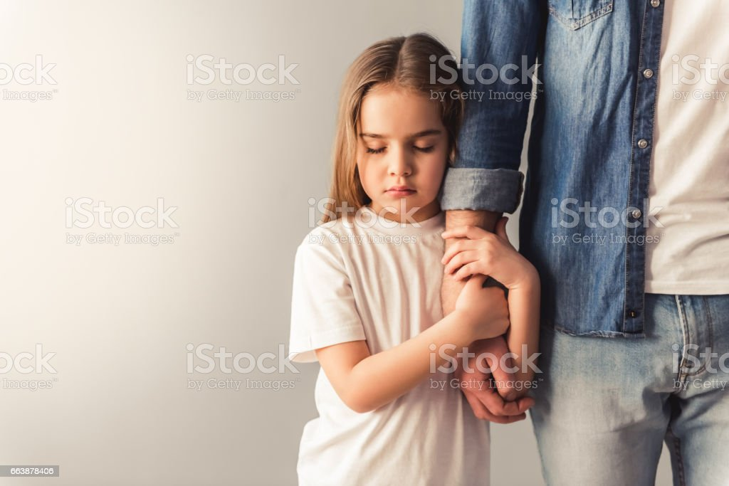 Image result for sad girl and dad