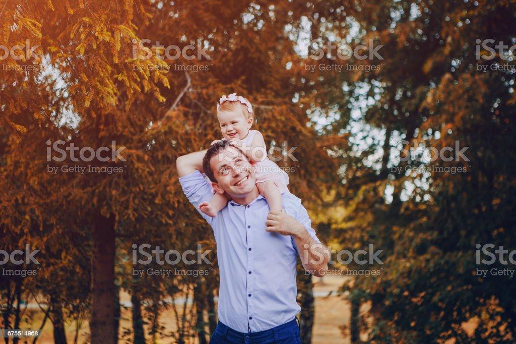 Baba ve kızı royalty-free stock photo