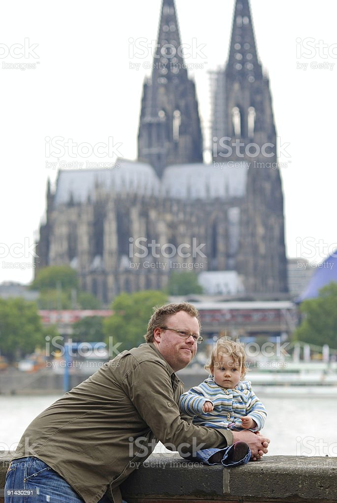 Dad and daughter royalty-free stock photo