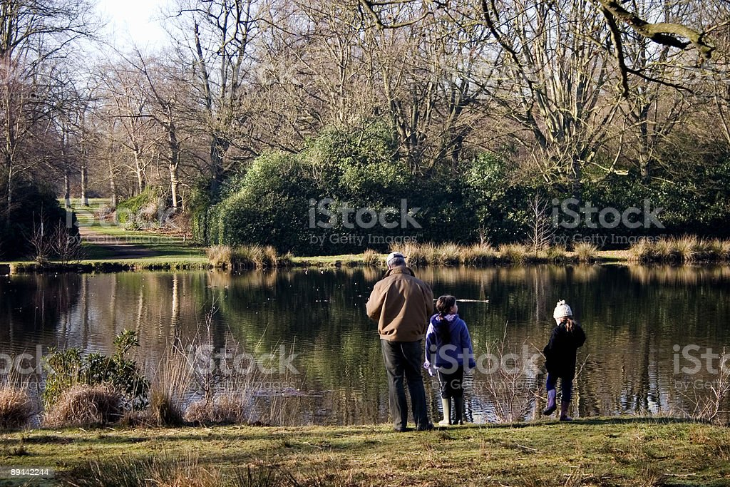 Dad and Daughters royalty-free stock photo