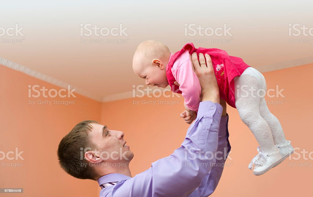 dad and his baby royalty-free stock photo