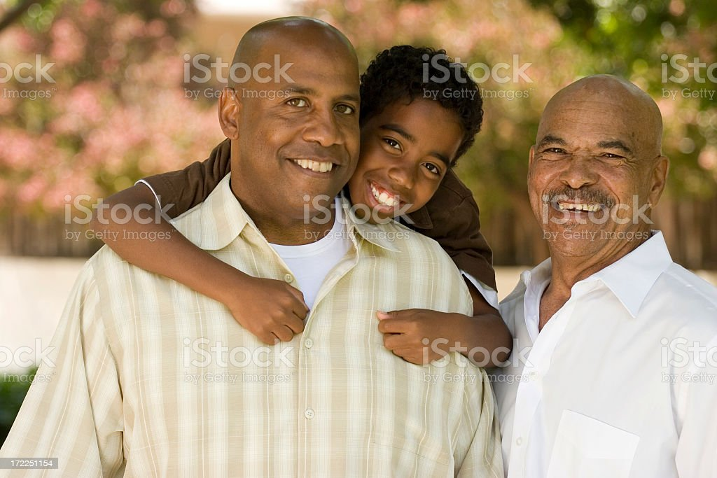 Dad granddad and son royalty-free stock photo