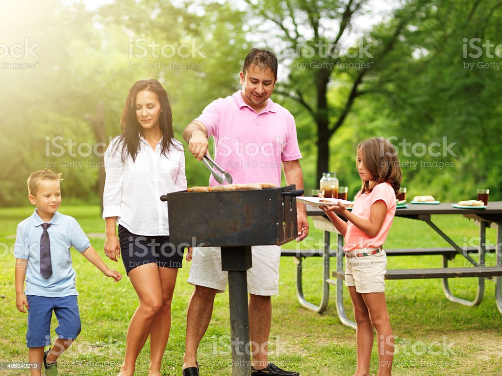 dad grilling food royalty-free stock photo