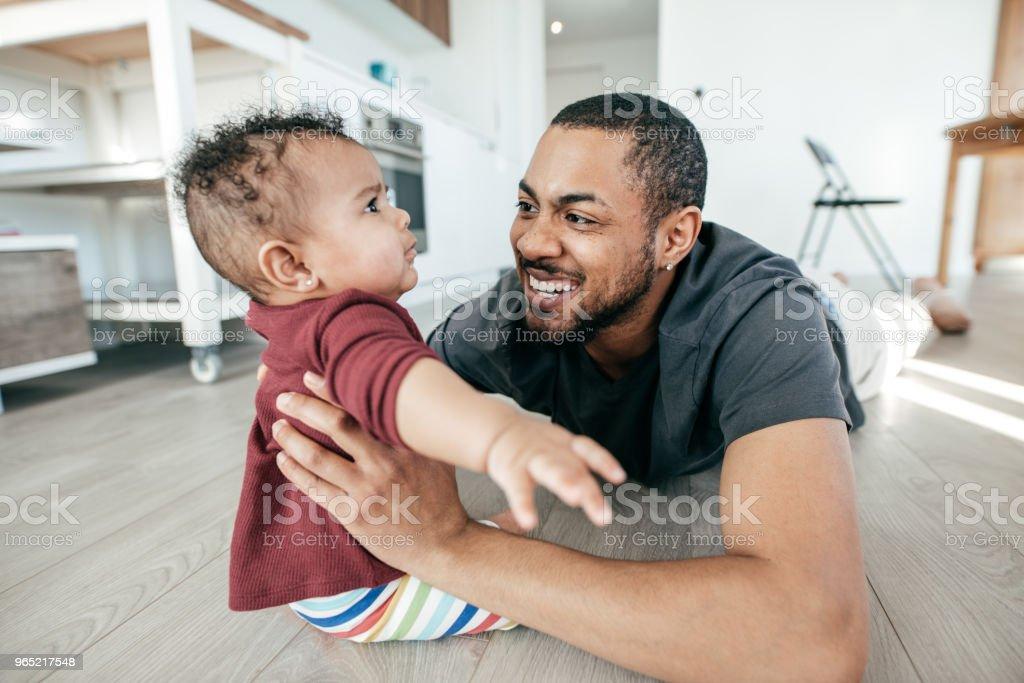 Raising a child with autism zbiór zdjęć royalty-free