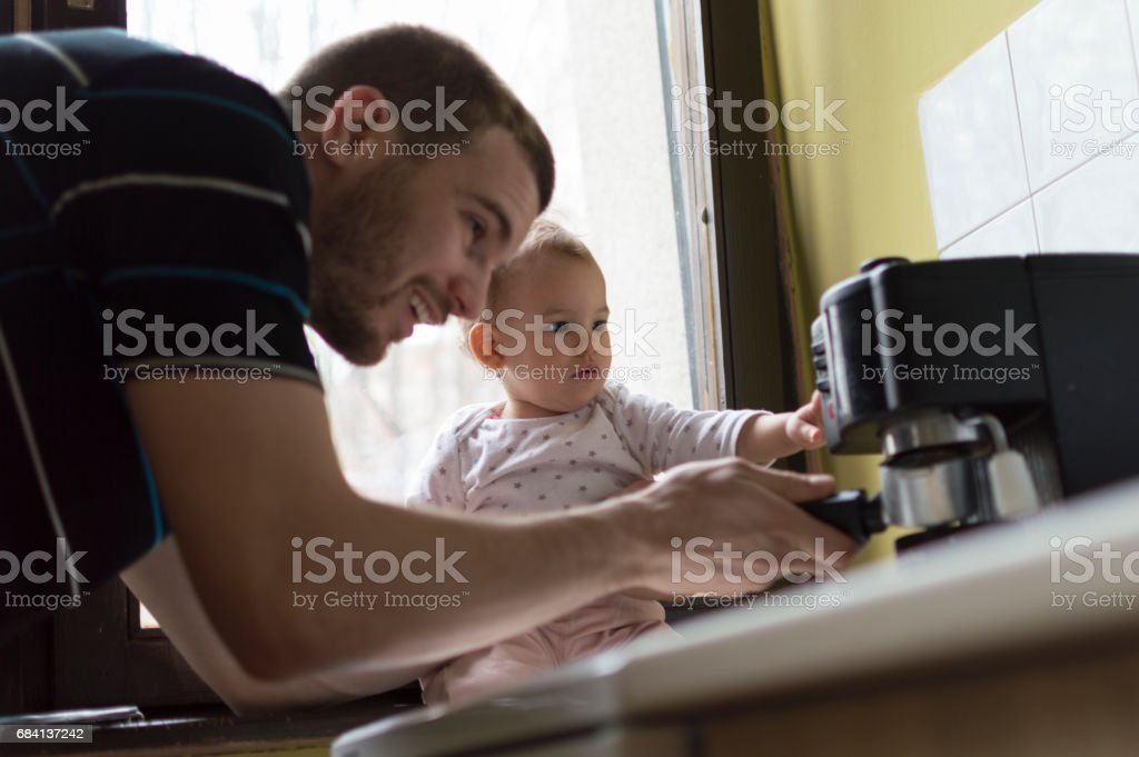 Dad I'll help you zbiór zdjęć royalty-free
