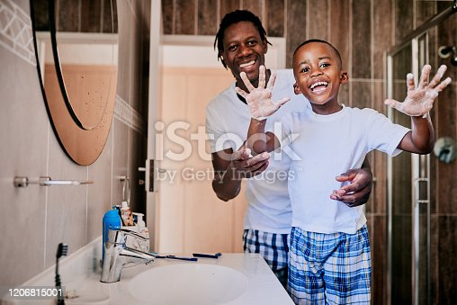 1182622704istockphoto Dad says that your hands should be well lathered 1206815001