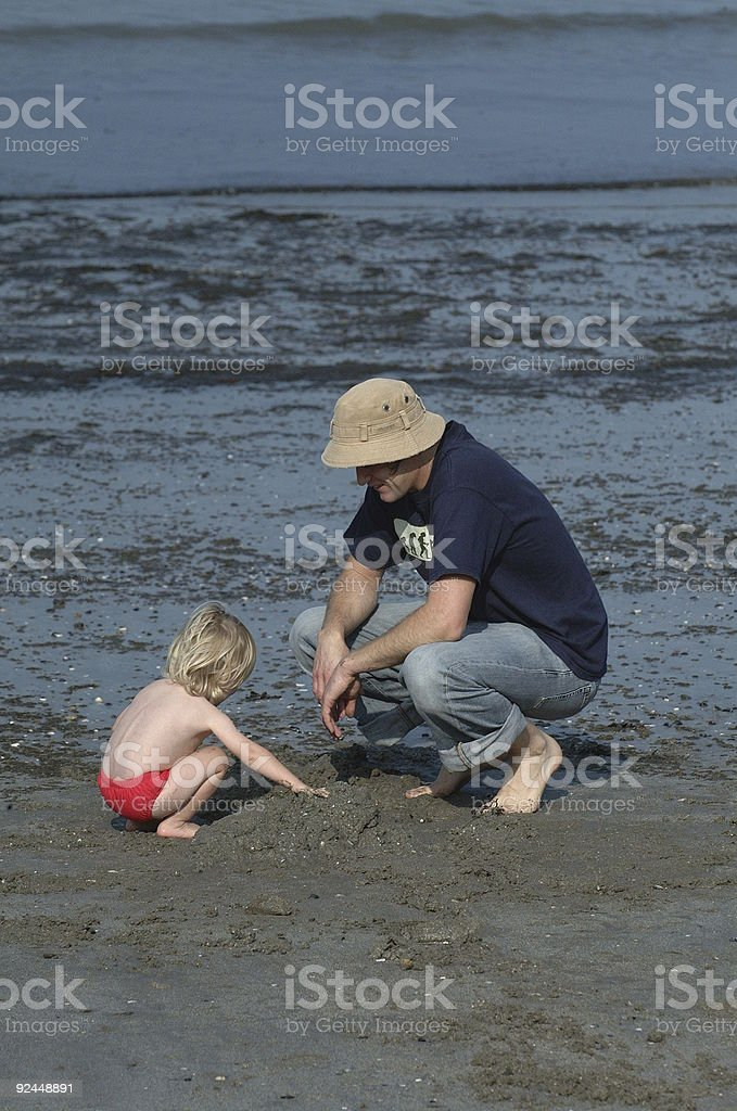 Dad & Son royalty-free stock photo