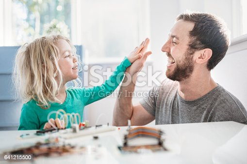 istock Dad Teaching Daughter Electrical Engineering 641215500