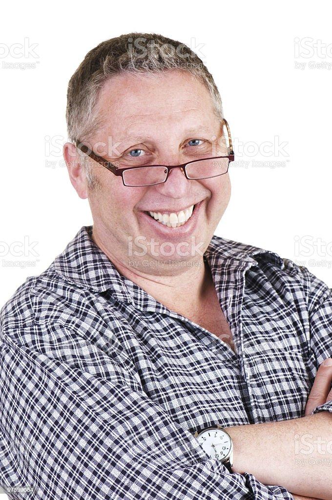 Dad With Glasses And Watch royaltyfri bildbanksbilder