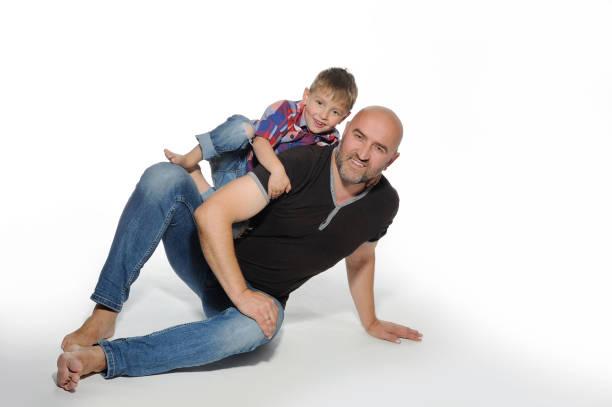 Papa avec son fils. - Photo