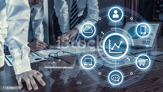 istock Dada analytics concept. Business and technology. 1132894170