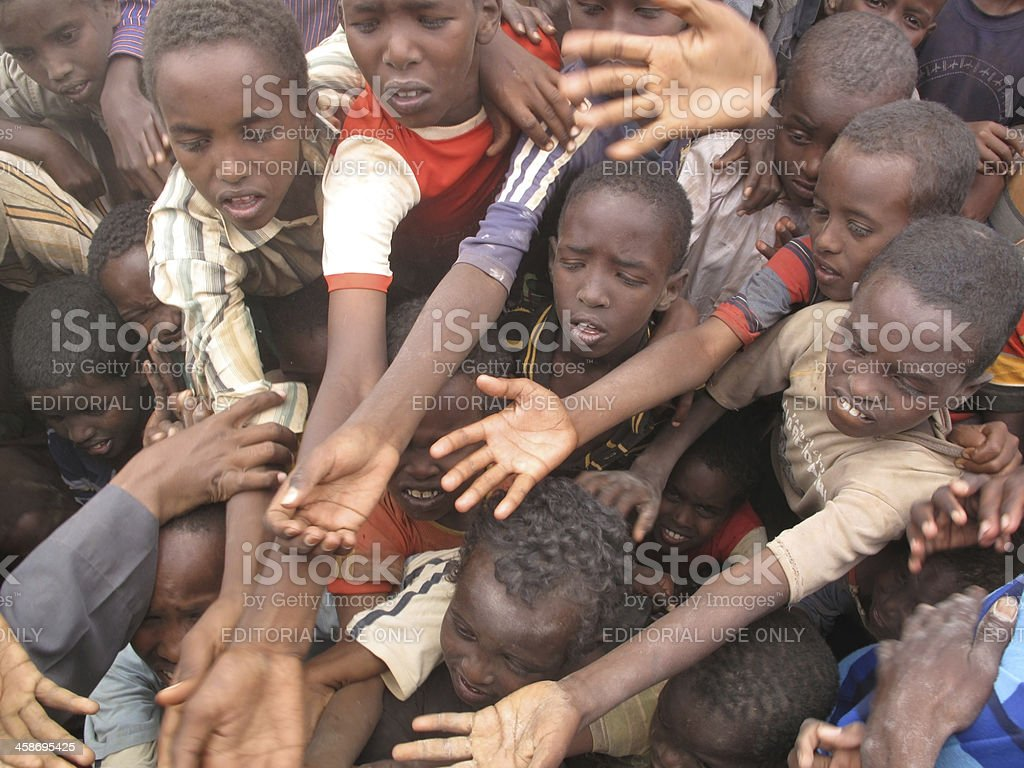 Dadaab Refugee Camp in Somalia stock photo